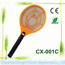 Acampar con la raqueta electrónica asesina de mosquitos recargable