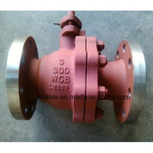 Válvulas de esfera de extremidade de flange de aço fundido ANSI 150lb / 300lb