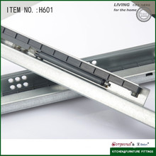 Hidden partial extension damping undermount Drawer Slide