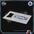 Sedex 4p ouvre-bouteille en acier inoxydable carte de visite professionnelle carte de crédit ouvre-bouteille