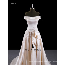 Fotos reales Appliqued Venta caliente Vestido de novia 2016 Vestidos de novia
