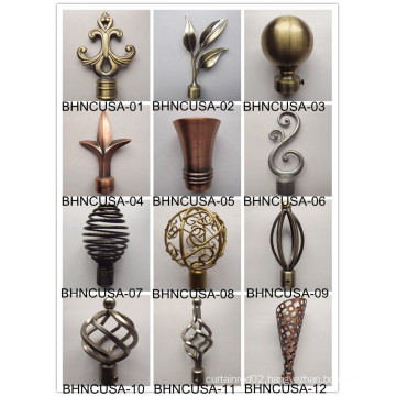 new design curtain finial