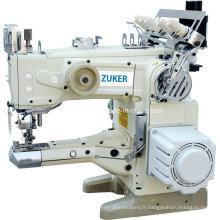 Zuker flux vers le haut le bras automatique fil coupe Interlock Machine à coudre entraînement Direct (ZK-1500-156 D)