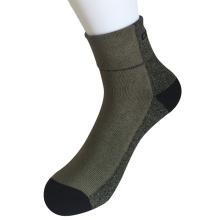 Medio almohadilla poli twisted hilos moda cuarta calcetines verde ejército (jmpq02)