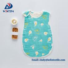Saco de dormir anti del edredón del retroceso del bebé recién nacido de la gasa de la Seda-capa de 100% algodón