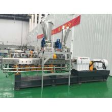 300 ~ 800kg / h extrusão do parafuso do gêmeo do preço da garantia do reforço da fibra de PBT / POM para a venda