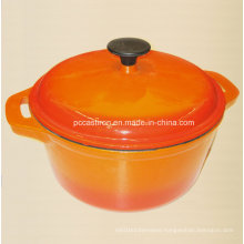 Yellow Round Enamel Cast Iron Casserole China Supplier Dia 26cm