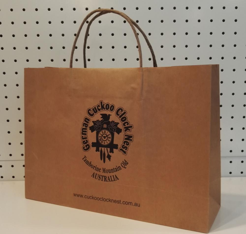Brown Paper Grocery Bag With Handle