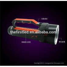 Plongée professionnelle Jusqu'à 100 m de profondeur 3500Lm 4x Cree xml t6 lampe de plongée avec 2 * 26650 Recharge Battery
