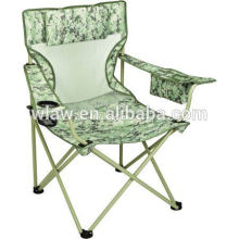 Picnic tailgating chair with cooler and drinking holder and pillow