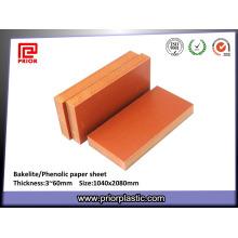 Folha de papel fenólica para quadros de distribuição