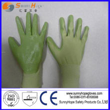 nylon lined nitrile coated safety gloves