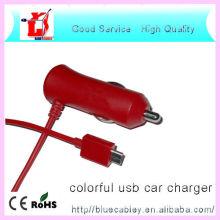 Nouveau design Câble de données coloré usb chargeur de voiture pour téléphone cellulaire