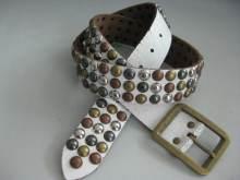 Metal Leather Belt