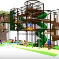 Estrutura de Playground Indoor de temas de árvore