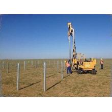 Hydraulic piling rotary rig solar