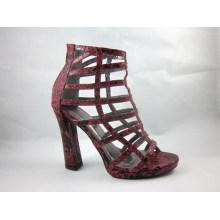 Mulheres de salto alto estilo tornozelo novo vestido botas (hyy03-066)