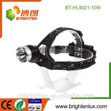 Professional Factory Hot Wholesale 10W Aluminium 2 * 18650 Longue portée Puissant Bright 3 Mode CREE XML camping phare