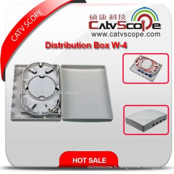 Boîte à bornes optique de haute qualité de la fibre W-4 / mini boîte de distribution de FTTX