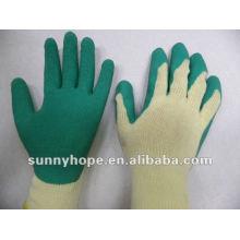 Gant revêtu de latex vert pour les travailleurs du bâtiment