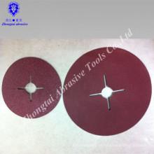 Rueda de pulido de fibra de óxido de aluminio 0.6mm / 0.8mm