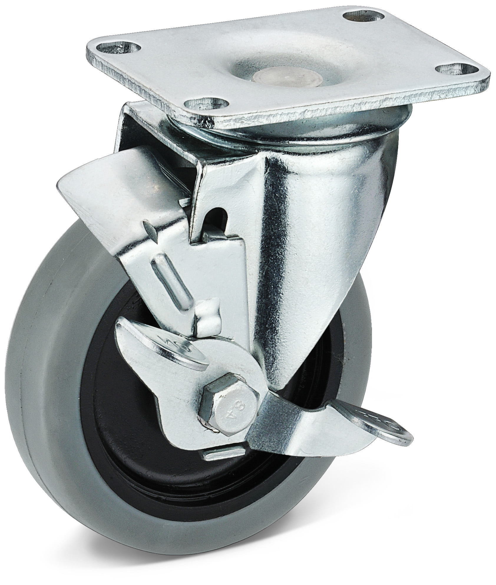 TPR Movable Side Brake Casters