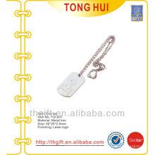 Collares de la etiqueta de perro del logotipo de la grabado del laser del metal para los regalos de la promoción