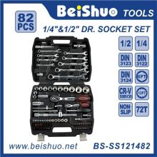 82 PCS 1/4 '' 1/2 '' Kit de hebillas de mano Dr. Cr-V