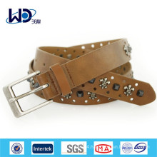 New design mens brown studded belts