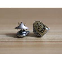Benutzerdefinierte Mode gedruckt Logo Metall Revers Pin mit weichen Emaille