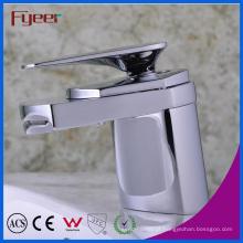 Fyeer Simples Graciosa Curto Spray Cachoeira Do Banheiro Torneira Cromada Torneira de Misturador de Água Quente & Fria