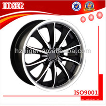 ruedas de motocicleta negra de aluminio forjado de acero inoxidable