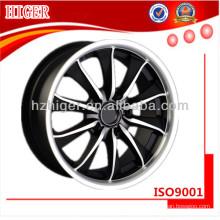 rodas de motocicleta pretas de aço inoxidável de alumínio forjado