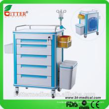 silent PVC Ambulance emergency medical trolley cart