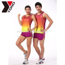 A escola de YONO e o treinamento do clube que correm ostentam os jogos running feitos sob encomenda da sublimação unisex do Sportswear do logotipo