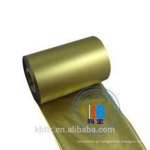 Fita da fita do cetim de 80mm fita térmica da impressora do argox do ouro metálico de 110mm