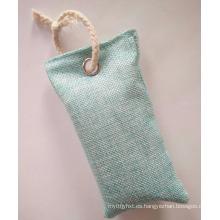 Cartera de bambú natural del purificador del aire del desodorante del carbón de leña de la cáscara del coco para los zapatos