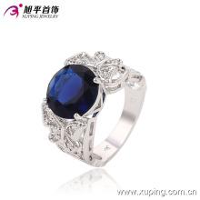Moda lujo CZ Crysral rodio anillo de la joyería con mariposa -Plated 13643