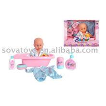 906031544 bebê vívido boneca, linda boneca, 12 polegadas bebê conjunto banheira