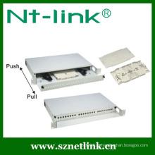 Патч-панель с 19-дюймовым 24-канальным оптоволоконным интерфейсом высотой 1U