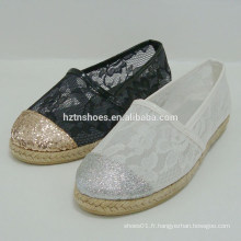 Sexy glitter lady chaussure plate chaussures en dentelle transparente femmes chaussure lady 2015