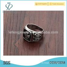 Neueste Ring Designs, Power Männer Ring, Kreuz Ringe