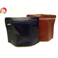 Flexible Custom Design shape pouch with Side Zipper