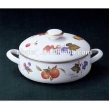 custom enamel seafood pot with beautiful design