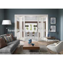 Puertas de vidrio plegables de sala de estar, puertas Bifold francés