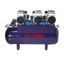 Compressor de ar sem óleo silencioso, uma cadeira de quatro condutores, sem óleo