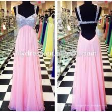 Розовый милая декольте сшитое Длина пола дизайн длинные вечерние наряды ED128 вечернее платье Размер XXL