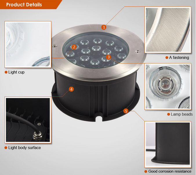 18W led inground light