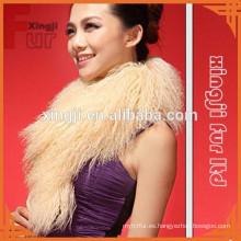 collar de piel de cordero mongol teñido para chaqueta