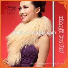 dyed color Mongolian lamb fur collar for jacket